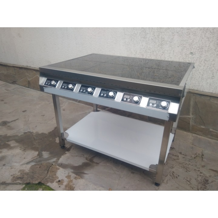 Индукционная плита 6 конфорок по 2,5 кВт