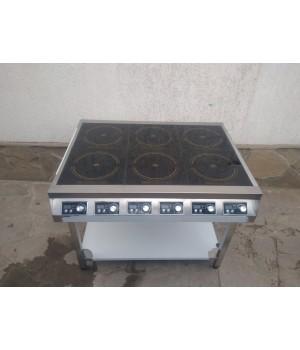 Индукционная плита 6 конфорок по 3,5 кВт